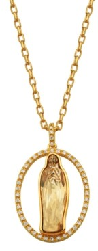 PRIME ART & JEWEL Swarovski and Cubic Zirconia Religious Pendant Set in Bronze