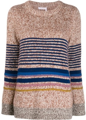 See by Chloe horizontal knit stripes jumper