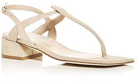 Stuart Weitzman Women's Cayla T Strap Block Heel Sandals