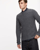 Horizontal Rib Merino Crew Neck Jumper