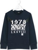 Diesel chevron printed sweatshirt - kids - Cotton - 6 yrs
