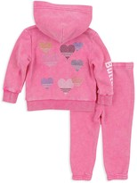 Butter Shoes Girls' Sparkle Love Embellished Hoodie & Sweatpants Set