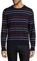 Brooks Brothers Striped Crewneck Merino Wool Sweater
