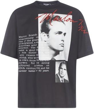 Dolce & Gabbana Marlon Brando Print T-Shirt
