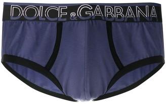 Dolce & Gabbana Branded Waistband Contrast Briefs