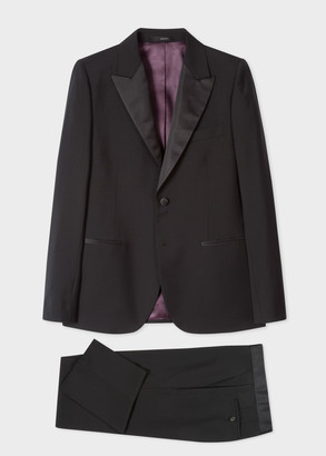 Paul Smith Men's Tailored-Fit Black Wool-Mohair Evening Suit