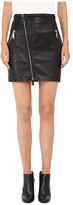 DSQUARED2 Lelya Leather Mini Skirt