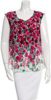 Marc Jacobs Floral Print Silk Blouse w/ Tags