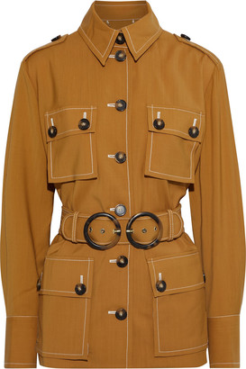 Zimmermann Zippy Belted Wool-twill Field Jacket