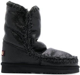 Mou Stitch Detail Snow Boots