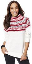 New York & Co. Embellished Fair Isle Sweater