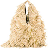MM6 MAISON MARGIELA fringed trim shoulder bag - women - Jute/Polyester/Viscose - One Size