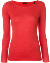Aspesi boat neck jersey top