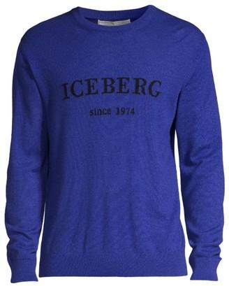 Iceberg Logo Crew Sweater
