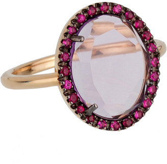 Pomellato 18K 4.60 Grams Rose Gold 2.35 Ct. Tw. Gemstone Cocktail Ring