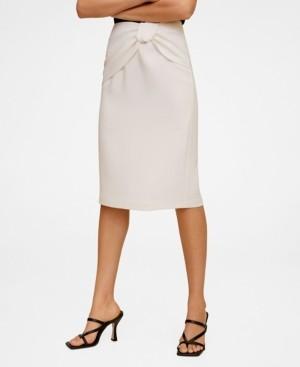 MANGO Women's Knot Pencil Skirt