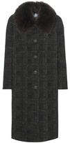 Prada Fur-trimmed Virgin Wool And Mohair-blend Coat