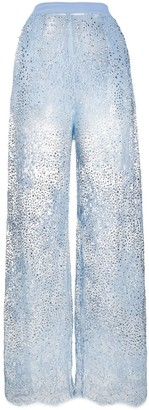 Ermanno Scervino Embellished Lace Trousers