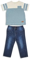 7 For All Mankind Infant Boys' Color-Block Pocket Tee & Jeans Set - Sizes 12-24 Months