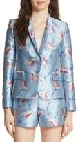 Alice + Olivia Macey Bird Print Jacket