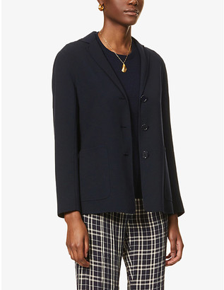S Max Mara Aspen single-breasted stretch-wool jacket