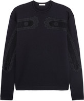 Chloé Crochet-paneled wool sweater