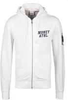 Money Ecru Athletic Zip Through Hooded Sweatshirt