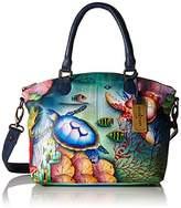 Anuschka Handpainted Leather 484-OCT Medium Convertible Satchel