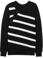 Proenza Schouler Striped Cashmere And Cotton-Blend Sweater