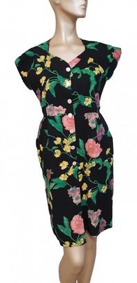 Ungaro Multicolour Cotton Dress for Women Vintage