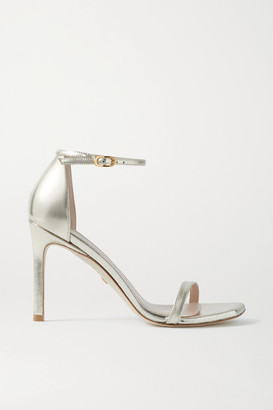Stuart Weitzman Amelina Metallic Leather Sandals - Gold
