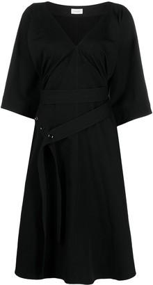 Lemaire V-neck belted shirtdress