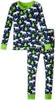 Hatley Moose & Stars Pajama Set (Toddler/Kid) - Blue - 2