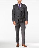 Lauren Ralph Lauren Men's Charcoal Pinstripe Pure Wool Vested Slim-Fit Suit