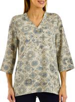 Studio Print Kimono Top