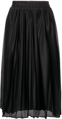 Moncler Perforated Pleated Skirt