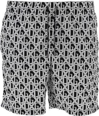 Dolce & Gabbana Monogram Print Swim Shorts