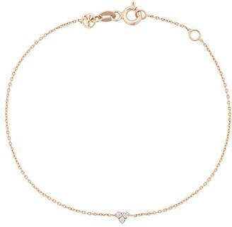 Kismet by Milka 14kt Rose Gold Triple Diamond Charm Bracelet