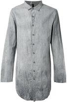 Army Of Me - crumpled long shirt - men - Cotton/Linen/Flax - S