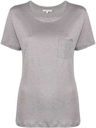 Gold Hawk round neck linen T-shirt