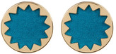 House Of Harlow Sunburst Textile Stud Earrings