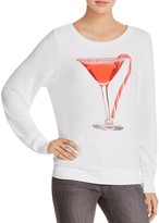 Wildfox Couture Candy Cane Martini Sweatshirt - 100% Exclusive