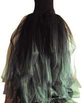 WDPL Ruffles Straps Tulle Bridal Evening Skirt