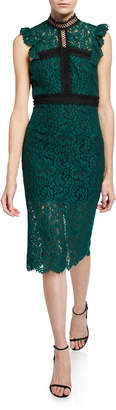 Bardot Latoya Lace High-Neck Cocktail Dress
