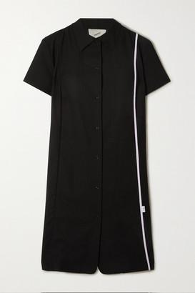 Coperni Striped Wool-crepe Shirt Dress - Black