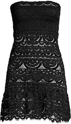 PQ Lace Smocked Tube Dress