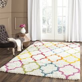 """Safavieh Kids Shag Collection SGK569A Ivory and Multi Area Rug, 8 feet 6 inches by 12 feet (8'6"""" x 12')"""
