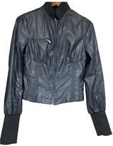 Jean Paul Gaultier Blue Leather Jacket for Women Vintage