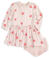 Stella McCartney 'Cosmic Star' Drop Waist Dress (Baby Girls)