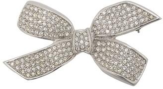 Christian Dior Pre-Owned 1990's rhinestone bow brooch